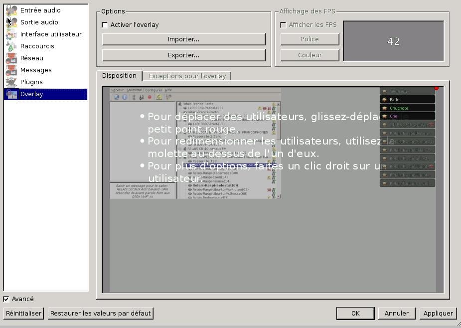 Installation de mumble en mode client pour relai (gateway standalone